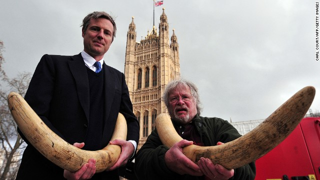 British MP Zac Goldsmith (left) and TV personality Bill Oddie in central London on February 10, 2014.