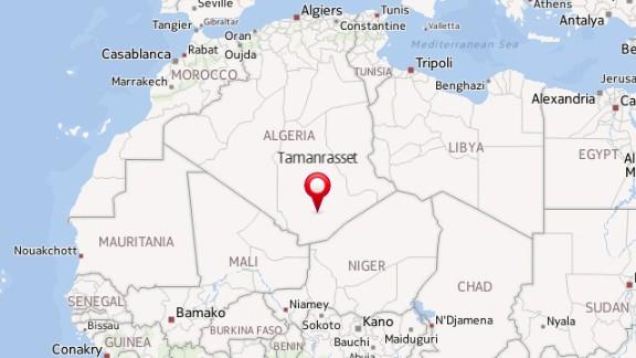 Map: Algeria plane crash