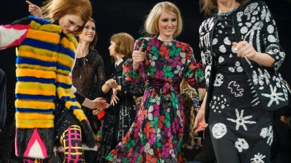 Johnson Hartig, who designs under the Libertine name, debuted his fall collection on February 11. Models danced down the runway for the final walk.