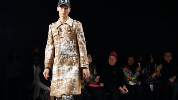 Hartig painted a new image of the classic trench coat.