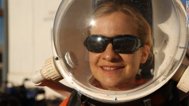 Michaela Musilova is a scientist at the Mars Desert Research Station.