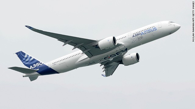 The A350 XWB performed its first ever airshow flyover at this year's Singapore Airshow.