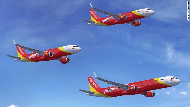 VietJetAir inked a deal for more than 60 A320s. (Artist impression)