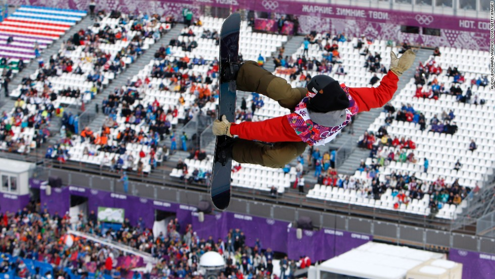 Christian Haller of Switzerland competes in the men's halfpipe on February 11.