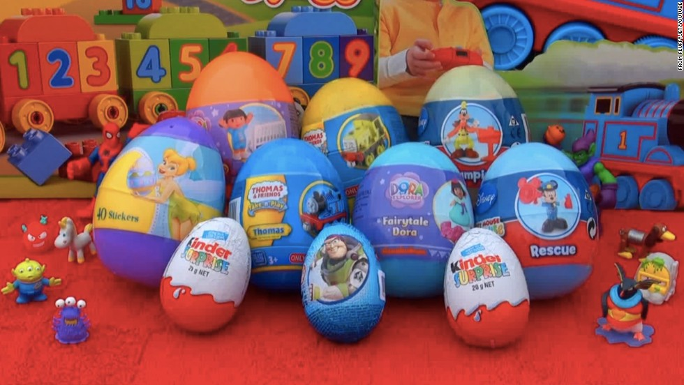 on youtube an unboxing video showing the toys inside disney themed kinder eggs has - Kinder Kid Competition