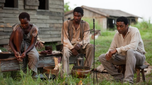 """12 Years A Slave"" chronicles the true story of Solomon Northup, a free black man who was kidnapped and sold into slavery (played by Chiwetel Ejiofor, right)."