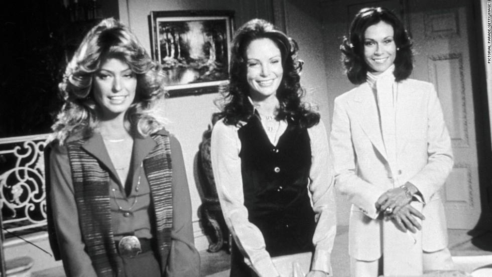 Big collars and bigger hair didn't get in the way of Charlie's Angels (Farrah Fawcett, Jaclyn Smith, and Kate Jackson) doing their job in the the 1970s TV series.