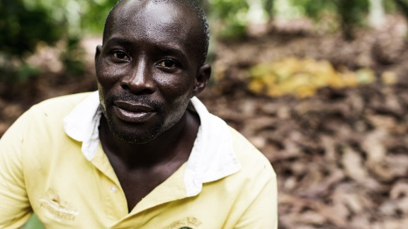 Cocoa farmer François Ekra owns a seven-hectare plantation in the Ivory Coast