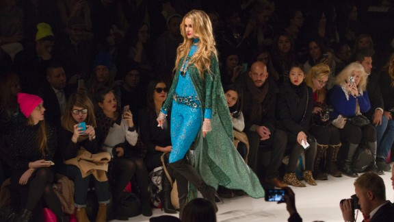 """Her exuberant collection was based on the film """"American Hustle"""" and popstar Rihanna."""
