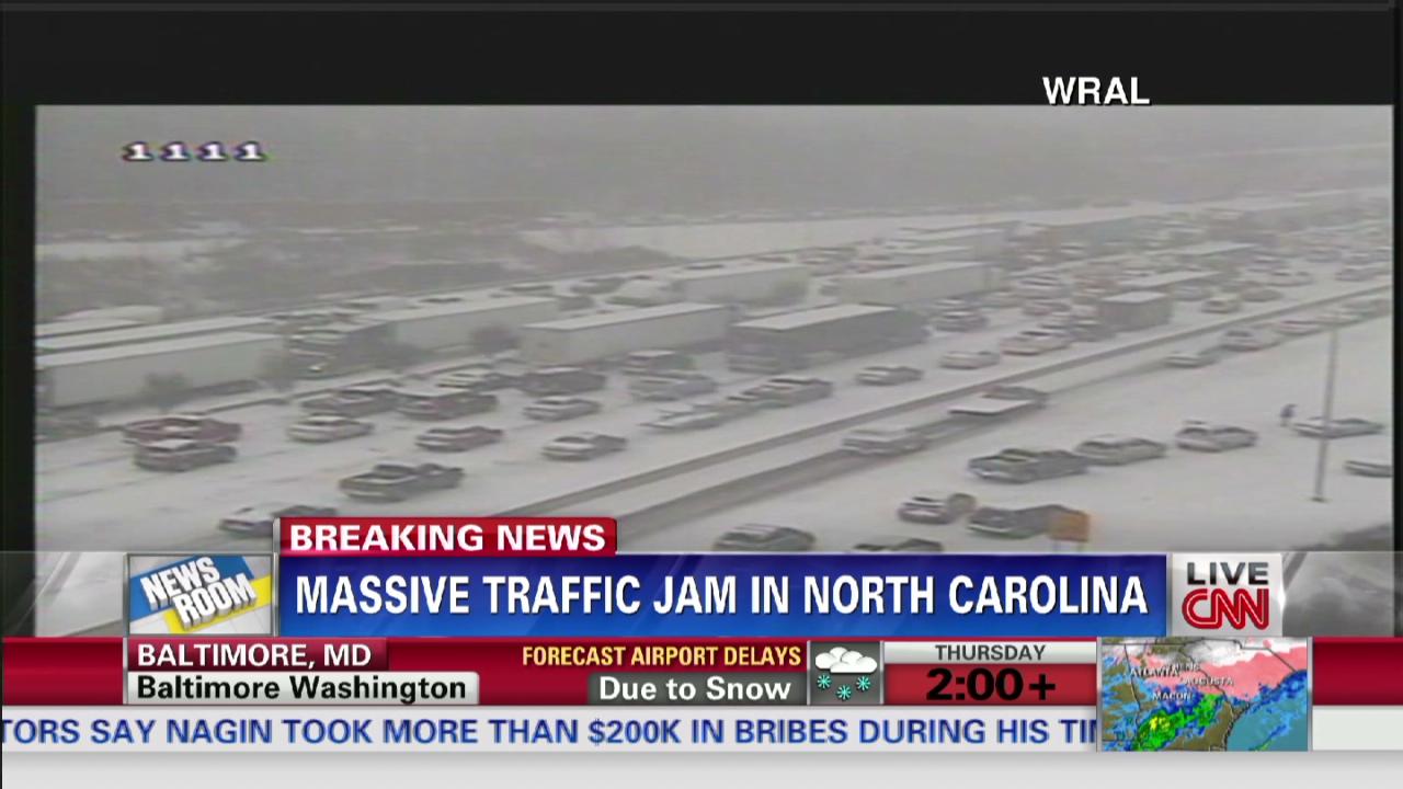 Massive traffic jam in North Carolina - CNN Video