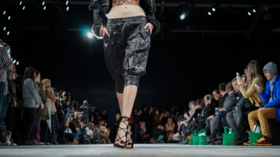 Hernan Lander, a New York-based Dominican designer, also showed his collection on the last day of Fashion Week, February 13.