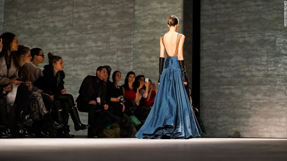 Hernan Lander also added some edge with a backless, full-length dress.