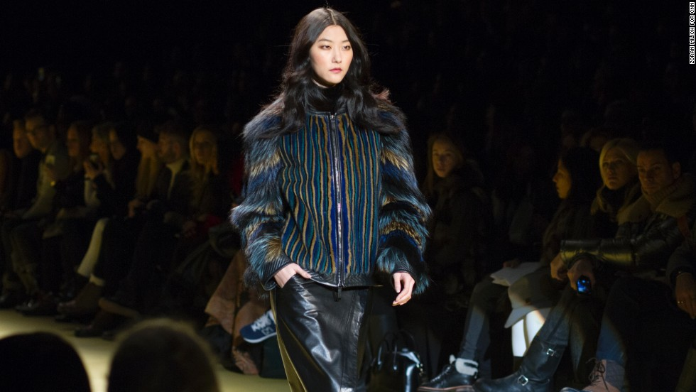 J. Mendel's collection was a colorful parade of furs.