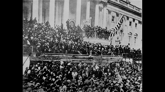 """The plot to topple Abraham Lincoln with the phony """"Miscegenation"""" pamphlet failed. Tens of thousands of people, many of them African-Americans, attended and cheered his second inauguration on March 4, 1865. The Civil War and slavery were near an end, and Lincoln's address was somber and moving."""