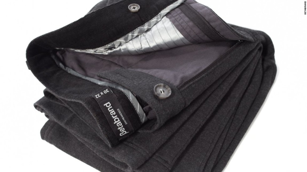 Betabrand Dress Pant Sweatpants have that special second inside waist button ... so you know they're fancy!