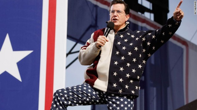 Stephen Colbert has worn Betabrand's starry USA pants. Made with real bits of bald eagle.