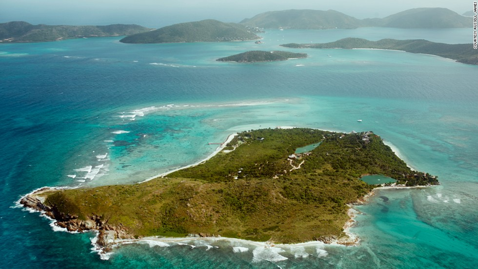 "Necker Island is Richard Branson's private resort in the British Virgin Islands. The billionaire entrepreneur opened up his home to Australian fashion and celebrity photographer Russell James for his new book, ""A Virgin Island."""