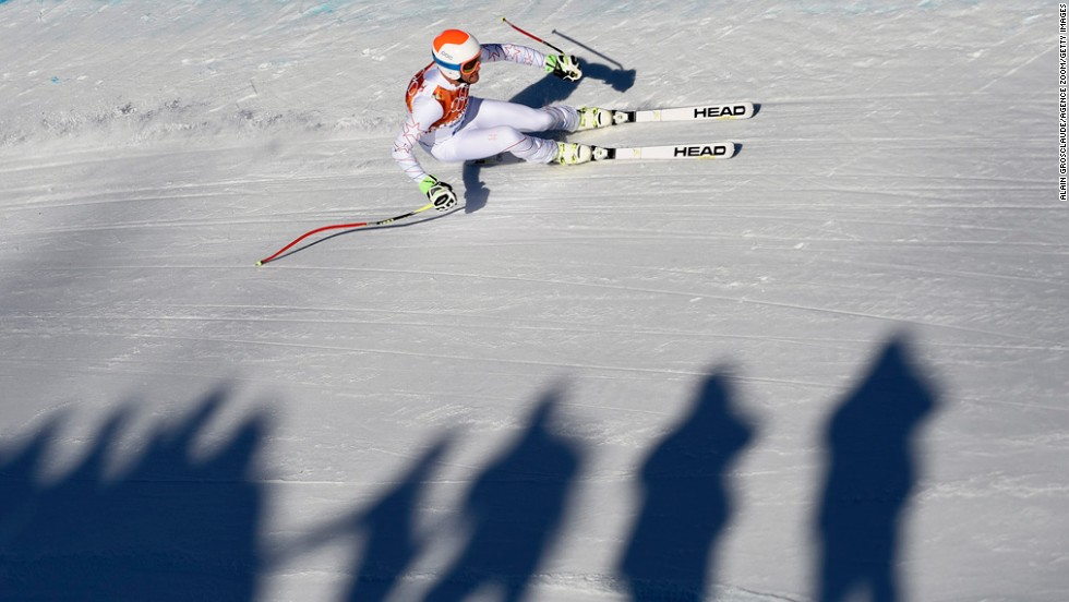 American skier Bode Miller competes in the men's super-combined on February 14.