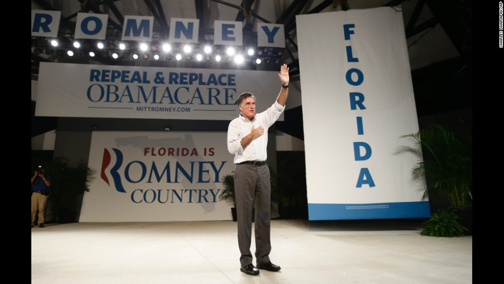 <strong>Don't underestimate immigration as an issue: </strong>Former Republican presidential candidate Mitt Romney missed the inclusiveness memo when he  promoted a self-deportation policy unpopular with many Latinos. He's shown here in Florida, a swing state with a large Latino population, a month before the 2012 presidential election.