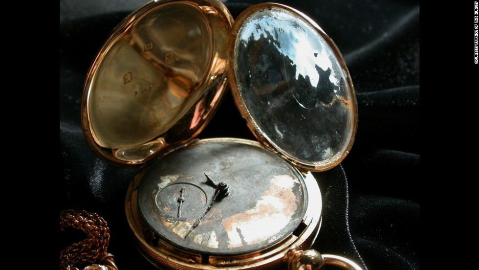One of the personal belongings found inside the Hunley, a watch belonging to Lt. George Dixon.