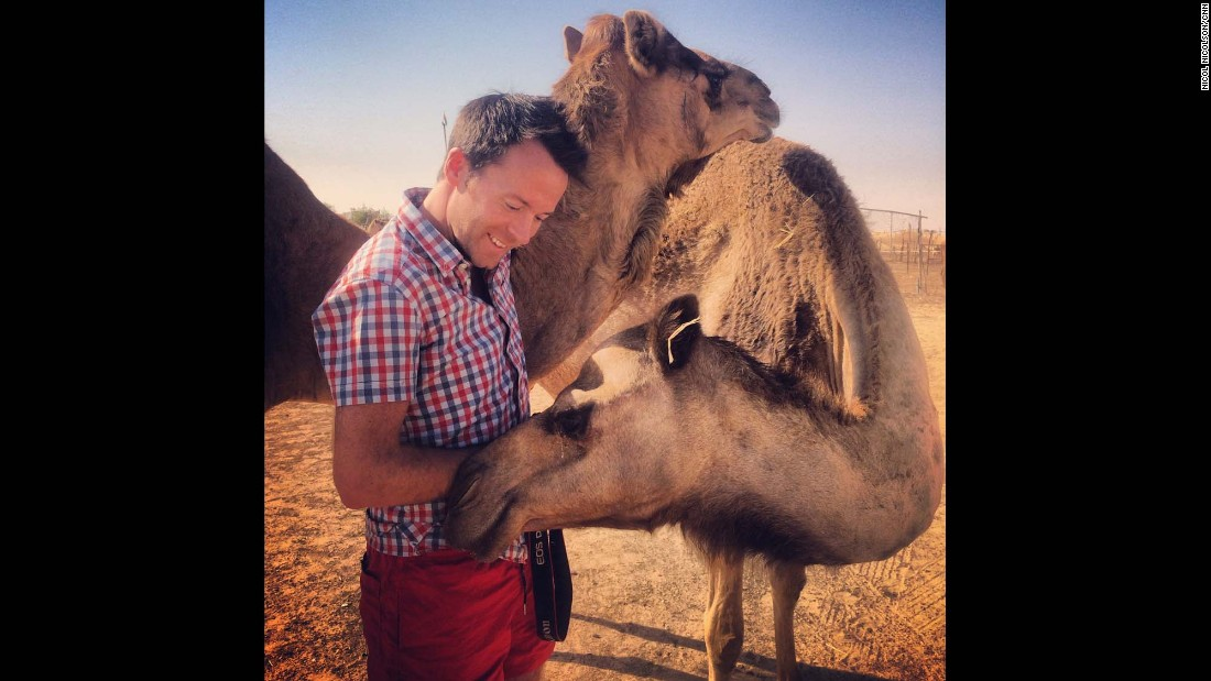 "UNITED ARAB EMIRATES: ""Even if nobody else loves me, I can take comfort in the fact that camels do."" - CNN's Nicol Nicolson <a href=""http://instagram.com/nicolnic"" target=""_blank"">@nicolnic</a>."
