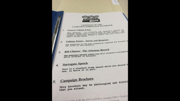 As a staffer on the 1992 campaign, Blair received a handbook that included a sample stump speech for surrogates.