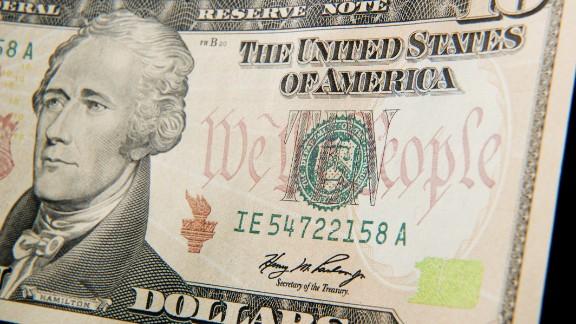 Alexander Hamilton graces the $10 bill but was never president.