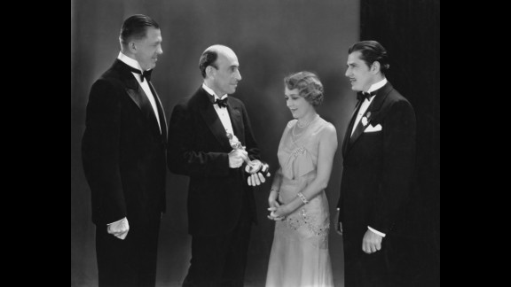 """<strong>Mary Pickford (1930):</strong> In 1930, there were actually two Oscar ceremonies. Actress Mary Pickford, seen here, receives her best actress Oscar in April 1930 for her performance in the 1929 film """"Coquette."""""""