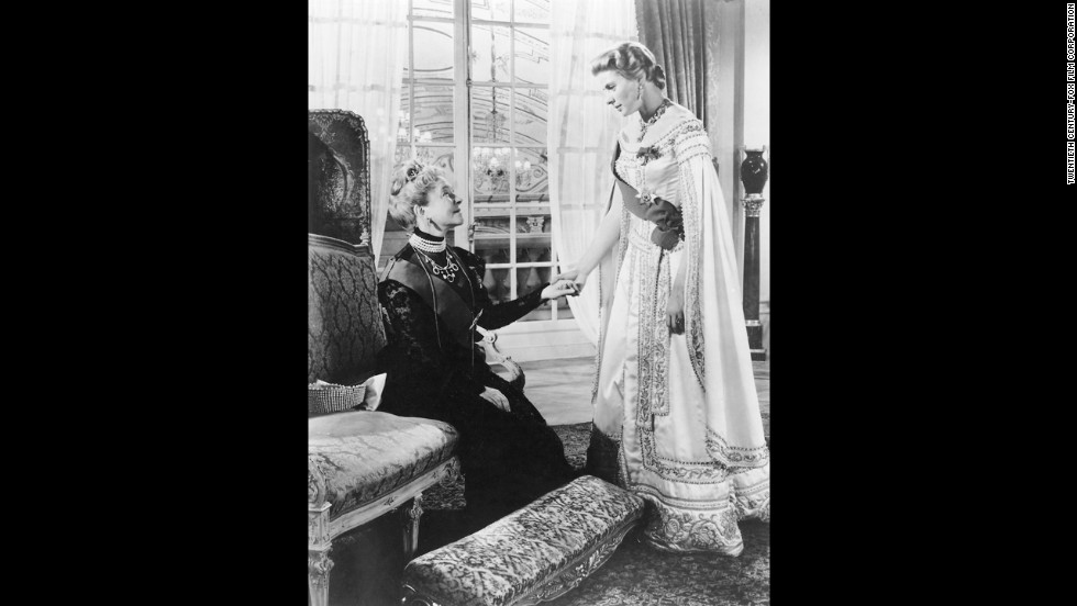 "Ingrid Bergman, right, appears with Helen Hayes in a scene from the movie ""Anastasia."" Her performance earned her a second Oscar for best actress."