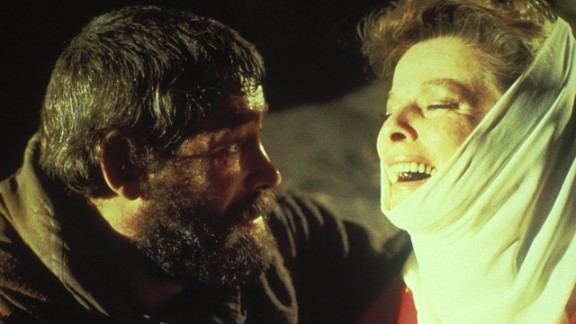 """<strong>Katharine Hepburn (1969):</strong> Katharine Hepburn and Peter O'Toole appear in """"The Lion in Winter."""" The film earned Hepburn her third Oscar for best actress."""