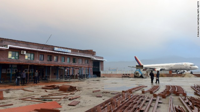 The domestic terminal building, after a domestic plane crashed in Kathmandu on February 16, 2014.