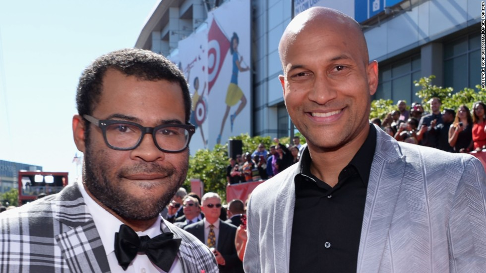 "Comedians Jordan Peele, left, and Keegan-Michael Key have a popular Comedy Central show, which often pokes fun at mistaken identities. ""Jordan and I have an African-American way of looking at things but also a child-of-a-white-mother way of looking at things,"" Key told USA Today in 2012. ""We have a very different and distinct filter that we see the world through that other people don't, because we're hybrids."""