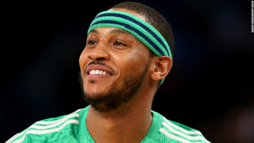 "The New York Knicks' <a href=""http://www.thisismelo.com/bio/"" target=""_blank"">Carmelo Anthony </a>is the child of an African-American mother and was named after his Puerto Rican father. ""I'm still trying to get that message out there, to let them know that I'm one of them and part of that community, too,"" he told<a href=""http://espn.go.com/blog/new-york/knicks/post/_/id/13266/melo-dishes-on-his-puerto-rican-heritage"" target=""_blank""> ESPN Deportes</a> about his Latin roots."