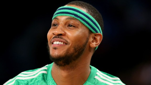 "The New York Knicks' Carmelo Anthony is the child of an African-American mother and was named after his Puerto Rican father. ""I'm still trying to get that message out there, to let them know that I'm one of them and part of that community, too,"" he told ESPN Deportes about his Latin roots."