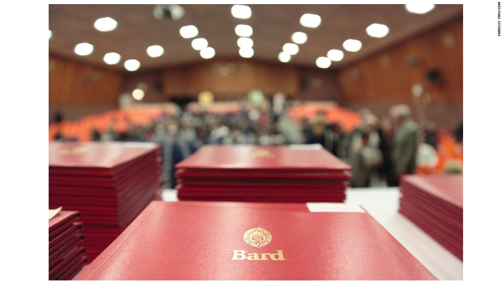 Bard College diplomas are ready to be handed out.