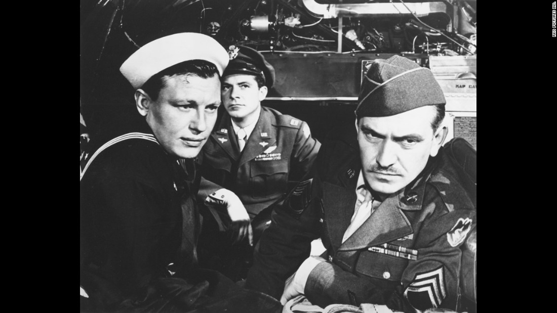 "Fredric March, right, Dana Andrews, center, and Harold Russell struck a chord with postwar audiences as servicemen returning home in ""The Best Years of Our Lives."" March picked up his second Oscar for the role."