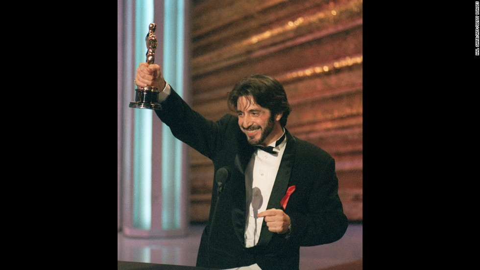 "Before ""Scent of a Woman,"" Al Pacino had been nominated for best actor four times and best supporting actor twice without winning. But the star's moment to accept the best actor Oscar finally came at the 1993 ceremony. Pacino may have won for ""Scent of a Woman,"" but he also lost that year in the best supporting actor category for ""Glengarry Glen Ross."""
