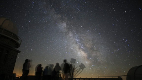 """<strong>Pic du Midi Dark Sky Reserve (France): </strong>It's impossible to miss the Milky Way stretching across the sky from this French reserve. """"Starry Night"""" programs are available on special astronomical occasions in the reserve, where an astronomer acts as your guide to the cosmos. You can use viewing equipment on the terraces."""