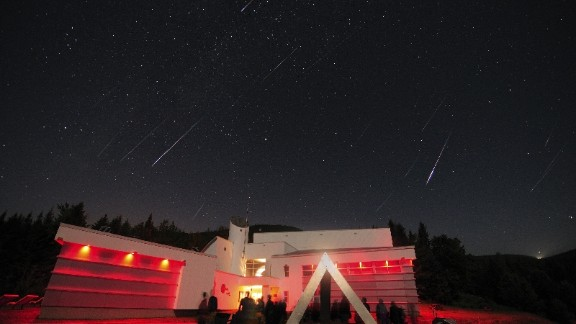"""<strong>Mont-Mégantic Dark Sky Reserve (Canada):</strong> The annual <a href=""""http://www.astrolab-parc-national-mont-megantic.org/en/activities.perseids.htm"""" target=""""_blank"""" target=""""_blank"""">Perseids Event</a> at Mont-Mégantic is dedicated to the meteor shower that can be seen every August. Around 50-100 """"fireballs"""" can be seen per hour across the sky in Quebec, Canada."""
