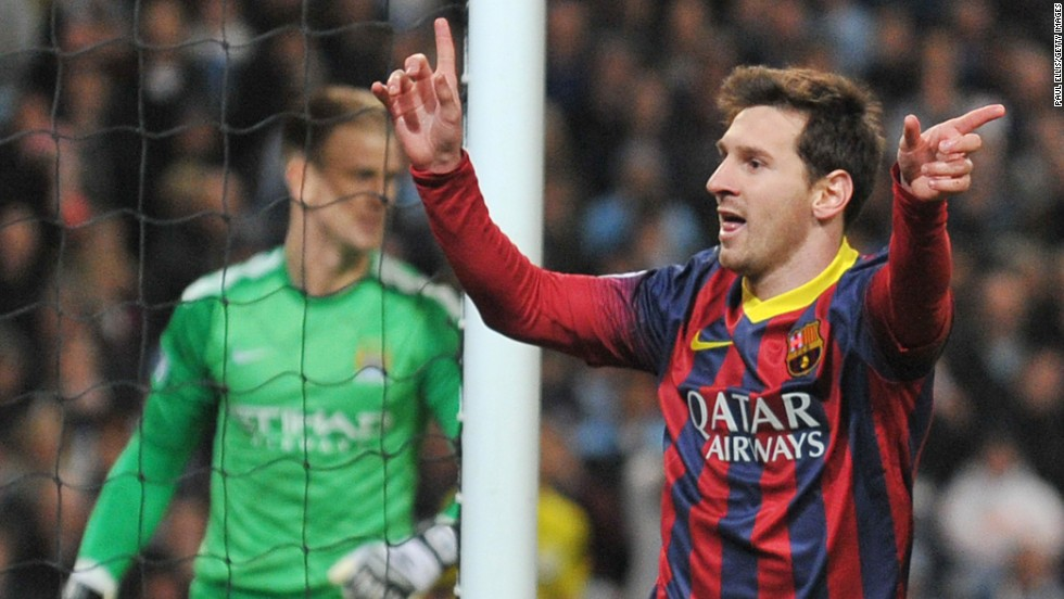 Lionel Messi converted the subsequent penalty, before Dani Alves scored a late second for Barcelona to give City a mountain to climb in the return game at the Camp Nou.