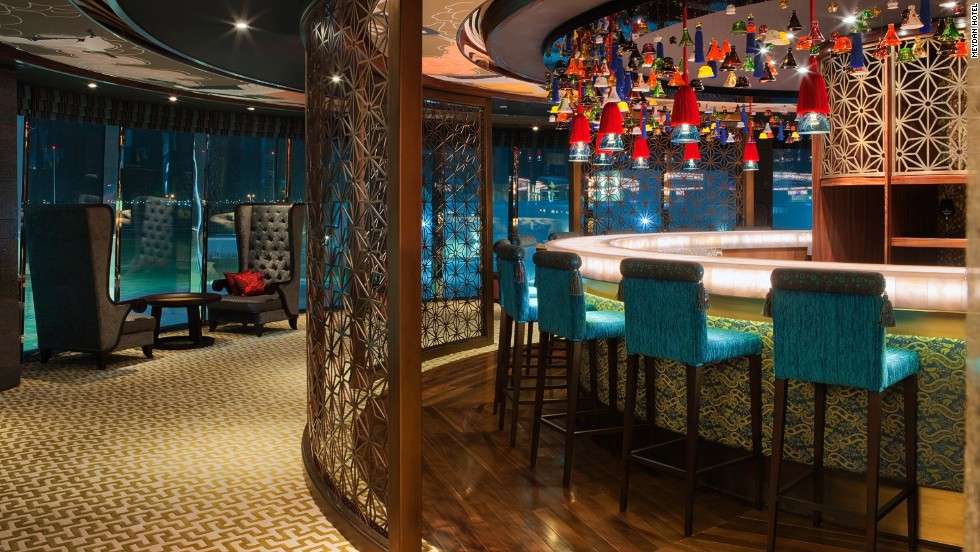 The Asian-themed Shiba Bar is one of several opulent dining and drinking areas in the hotel.