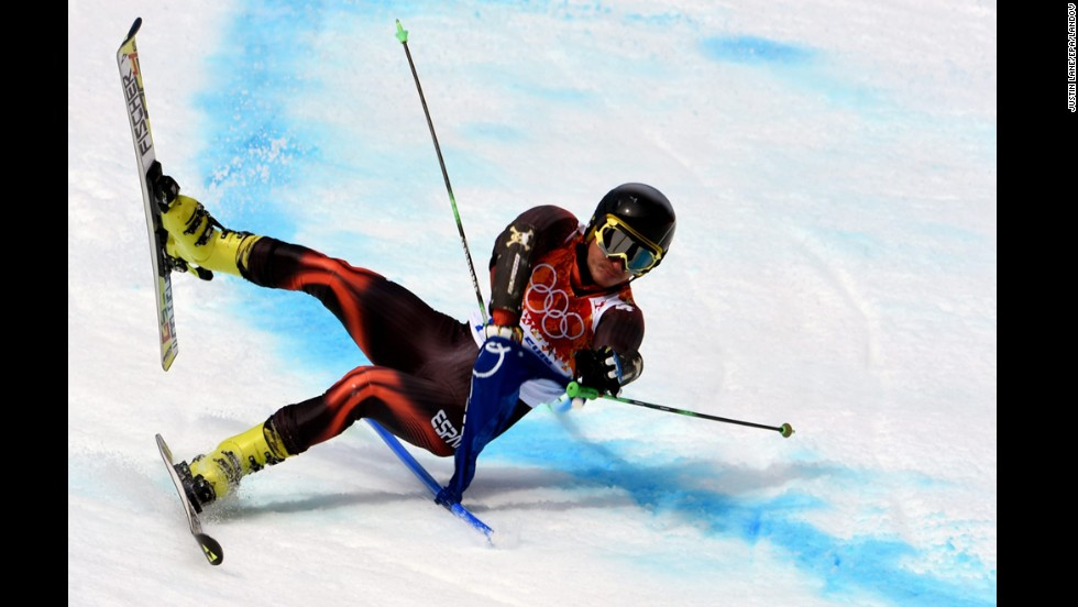 Pol Carreras of Spain is seen in action during the men's giant slalom.