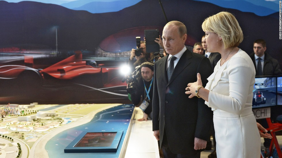 "Russian president Vladimir Putin is no stranger to a F1 car, having reached speeds of up to 150mph while test-driving a Renault vehicle in St. Petersburg in 2010. Ecclestone spoke of his ""great admiration"" for Putin in an interview with CNN."