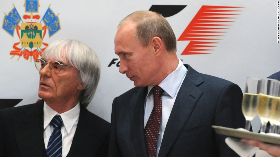 Formula One chief Bernie Ecclestone is a firm supporter of Russian president Vladimir Putin over his controversial attitude on gay rights.