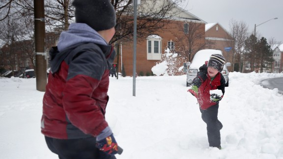 Schools around the country grappled this winter with rough weather, unsafe roads and power outages, which meant a lot of time for students -- including these from the Washington, D.C., area -- to play in the snow.  After 10 snow days, schools in Prince William County, Virginia, are reducing elementary recess to 10 minutes per day and adding other instructional days. Here