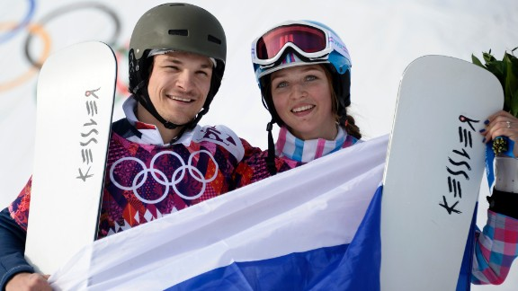 U.S.-born snowboarder Vic Wild won the parallel giant slalom just minutes after his Russian wife Alena Zavarzina took bronze in the women's event. Wild, who switched allegiance to Russia after his sport's funding was cut, followed it up with another gold in the parallel slalom.