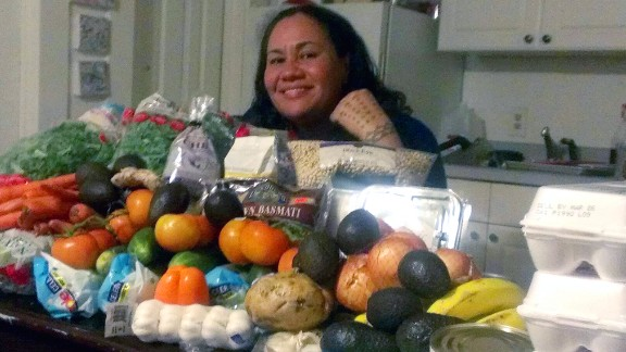 CNN Fit Nation's Sia Figiel now stocks up on fruits and vegetables along with lean meats and whole-grain carbohydrates.
