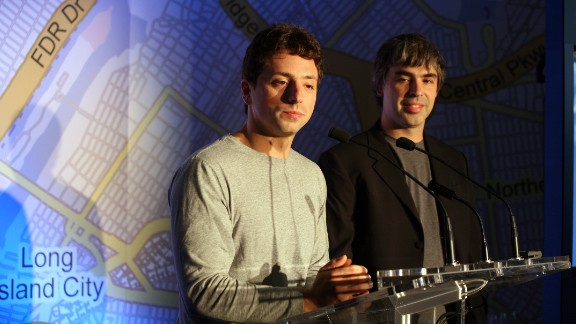 Sergey Brin, left, and Larry Page founded Google in 1998 while graduate students at Stanford. The massive tech company went public in 2004, making them both billionaires.