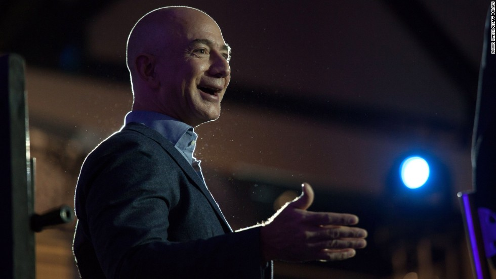 In 1994, Jeff Bezos left his job at a Wall Street hedge fund and drove from New York to Seattle, writing up his business plan for Amazon along the way. He started the company in his garage, banking on continued growth in internet use. Five years later he was TIME's Person of the Year and now he's worth an estimated $29 billion.