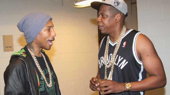 We'll bet you five bucks Jay Z was asking Pharrell about his skincare when they met up at the Barclays Center in September 2012.